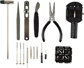 Stalwart 16 Piece Watch Repair Kit- DIY Tool Set for Repairing Watches Includes..
