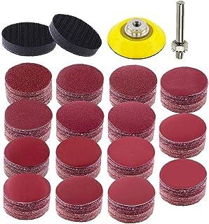Sanding Disc Grinding Pads Kit 2 Inch Sanding Disc Kit Sandpaper with 2 Soft Foam Buffering Pad 1 1/4 Inch Shank Backing P...