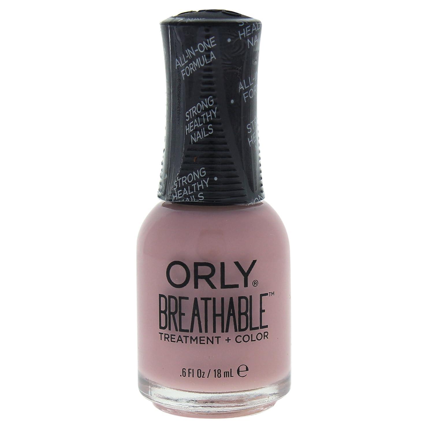 休憩希少性しかしながらOrly Breathable Treatment + Color Nail Lacquer - Sheer Luck - 0.6oz / 18ml