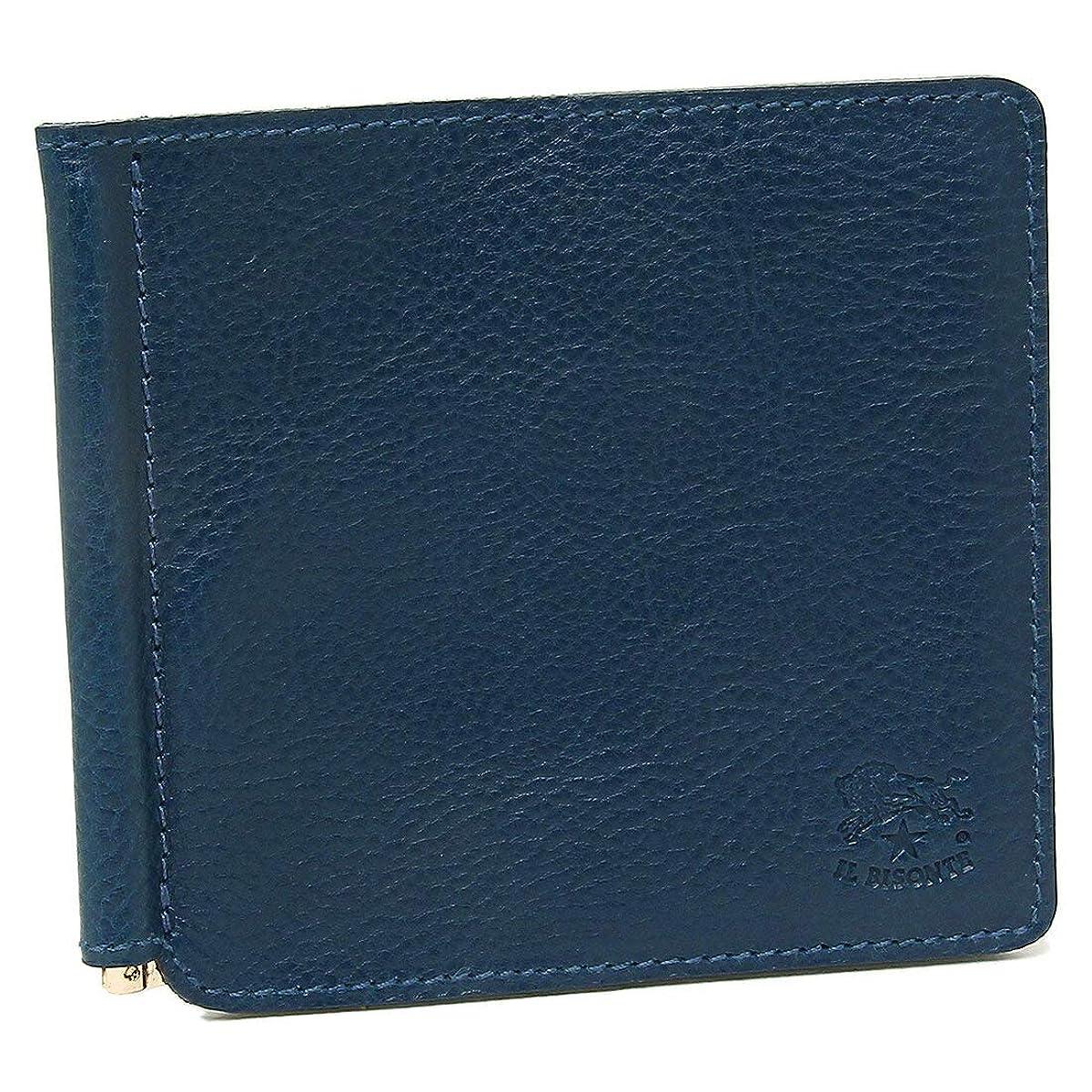 引っ張る水没民主主義[イルビゾンテ]折財布 マネークリップ メンズ IL BISONTE C0471P 866 ネイビー [並行輸入品]