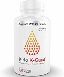 Keto K-Caps Electrolyte Capsules | Hydrate Fast & Beat Leg Cramps | 700mg Potassium, 360mg Sodium & 100mg Magnesium | No M...