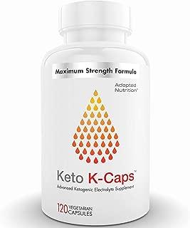 Keto K-Caps Electrolyte Capsules | Hydrate Fast & Beat Leg Cramps | 700mg Potassium, 360mg Sodium & 100mg Magnesium | No Maltodextrin or Sugar | 120 Capsules