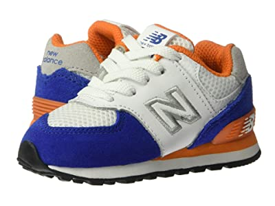 New Balance Kids 574 Summer Sport (Little Kid) (Team Royal/Varsity Orange) Boys Shoes