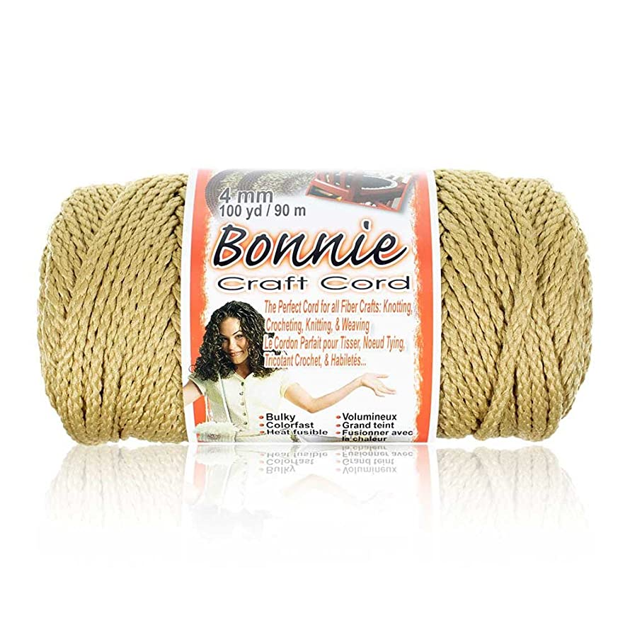 Craft County - 4MM Bonnie Cord - 100 Yards - Wide Variety Color Selection - Macramé Cord n6030463674731
