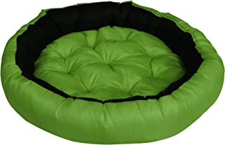 Hiputee Premium Waterproof Reversible Scratch-Resistant Washable Dog Cat Pet Bed (Small, Green-Black)