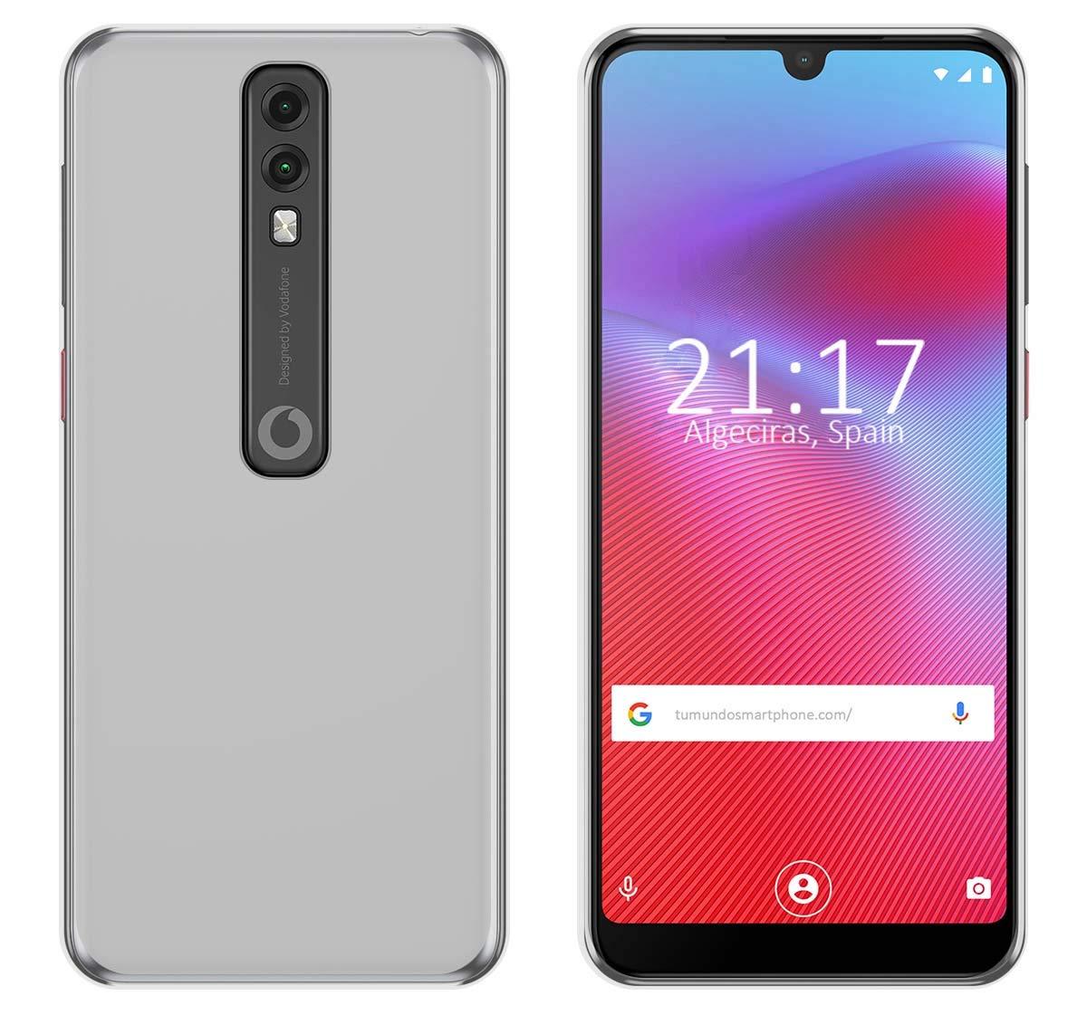 Funda Gel TPU para Vodafone Smart V10 Color Transparente: Amazon ...