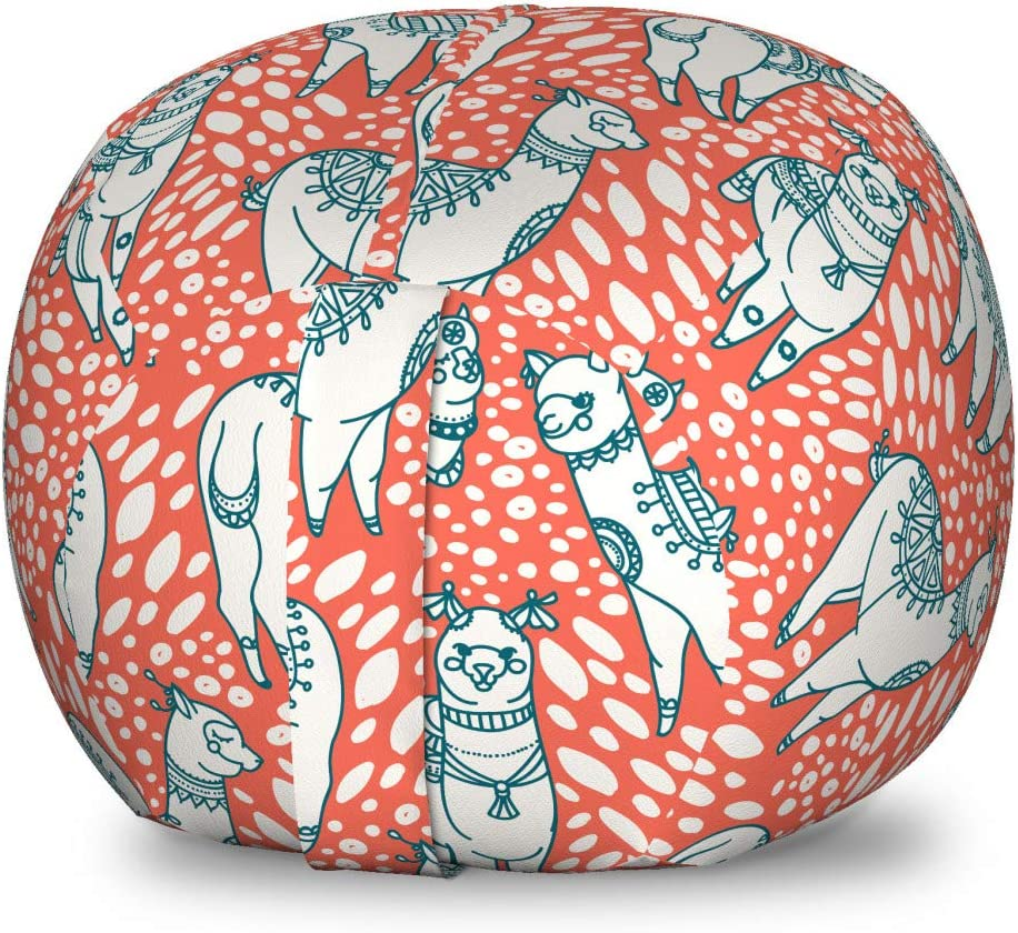 Ambesonne Animals Storage Toy Finally resale start Bag Llamas Inexpensive Chair Ame South Pastel