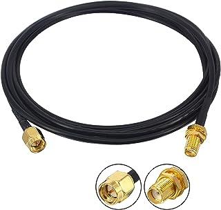 YILIANDUO SMA WiFi Cable de Antena SMA Macho a SMA Hembra 2M RG174 SMA Cable de extensión