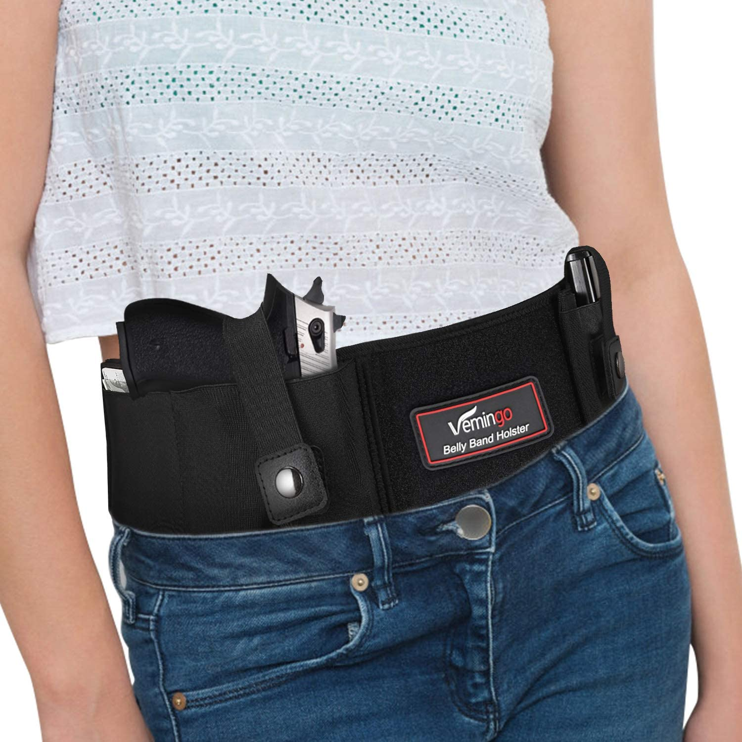 Ranking TOP20 Vemingo Upgraded Belly Band Holster List price Breathabl Women and Men for