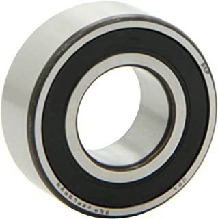 SKF 3205 A-2RS1/C3 Light Series Ball Bearing, Double Row, Converging Angle Design, ABEC 1 Precision, 25° Contact Angle, Double Sealed, Contact, Steel Cage, C3 Clearance, 25mm Bore, 52mm OD, 13/16