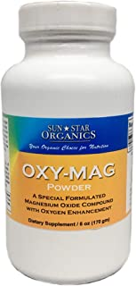 Oxy-Mag Powder 6oz - Dietary Supplement - Magnesium Citrate with Oxygen Enhancement by Sun Star Organics