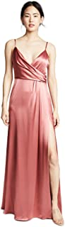Jill Jill Stuart Women's Satin Wrap Slip Dress