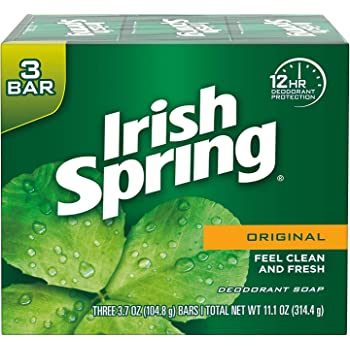 Irish Spring Deodorant Bar Soap, Original, 3 Bar
