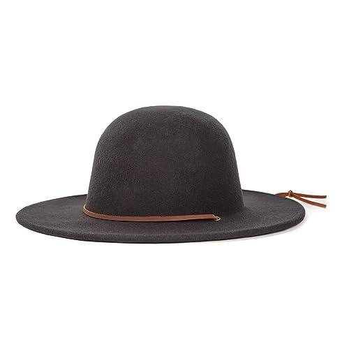 306705b4781 Brixton Men s Tiller Wide Brim Felt Fedora Hat