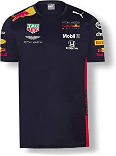 Aston Martin Team tee 2019, M Camiseta Azul Navy, Medium para Hombre