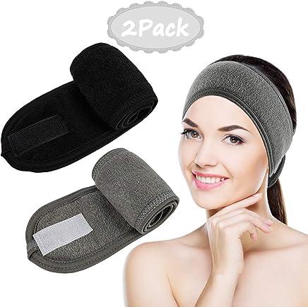 Haarband für Make-Up Kosmetik Stirnband Verstellbare mit Klettverschluss 6stk