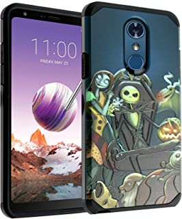 LG Stylo 4 Case, IMAGITOUCH 2-Piece Style Armor Case with Flexible Shock Absorption Case & Nightmare Before Christmas Design Cover Hybrid for LG Stylo 4-Nightmare Before Christmas Hybrid