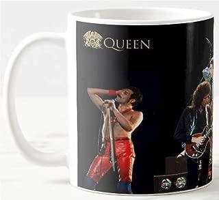 Queen Concert Rock & Roll Hall of Fame Band Freddie Mercury on 11 Oz. Ceramic Coffee Mug