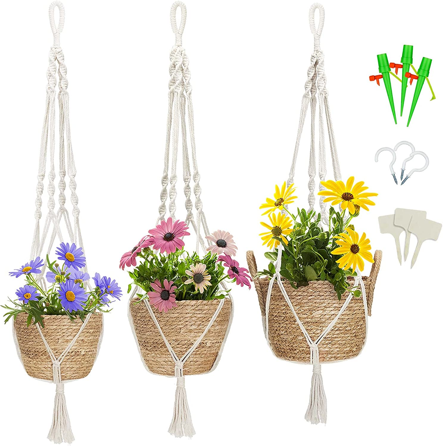 Greenstell Hanging Planters with Planter Plant Set Basket 3 of Max Selling and selling 73% OFF
