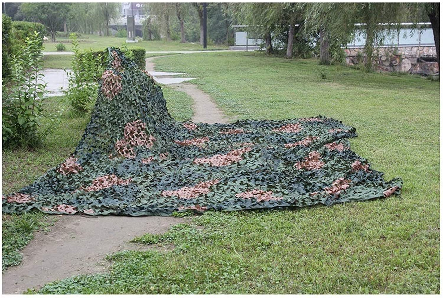 Camouflage Net Shade Net Hidden Net Predection Net CS Game Shooting Decoration Net Outdoor Tent Balcony Jungle Flower Plant Jungle Camouflage Multi-Size Optional (Size   2  3M)