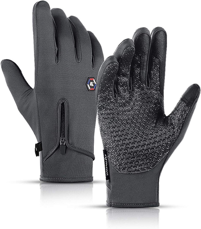 Men's Fall And Winter Windproof Waterproof Sport Touchscreen Gloves.