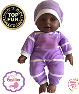 "11 inch Soft Body Doll in Gift Box - Award Winner & Toy 11"" Baby Doll (African American)"