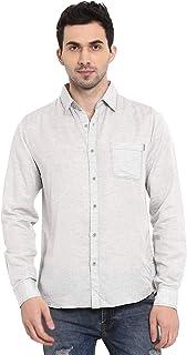 Mufti Men's Plain Slim fit Casual Shirt