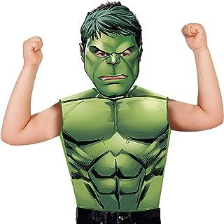 Marvel - Disfraz de Hulk set de fiesta camiseta + máscara,