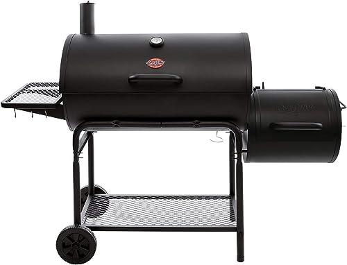 Char-Griller-1624-Smokin'-Champ-Charcoal-Grill-Horizontal-Smoker-in-Black