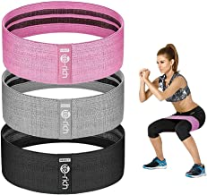 Te-Rich Resistance Bands for Legs and Butt, Fabric Women/Men Stretch Exercise Loops, Thick Wide Non-Slip Gym Bootie Band 3...