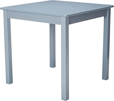 """Lipper International Child's Table for Play or Activity, 23.75"""" x 23.75"""" Square, 21.66"""" Tall, Grey"""