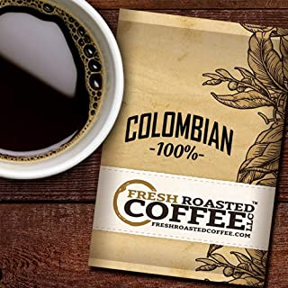 Fresh Roasted Coffee LLC, Colombian Coffee, 2.25 Ounce Pre-Ground Fractional Packages, 24 Portion Packs