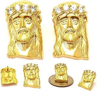 Best real gold jesus piece earrings Reviews