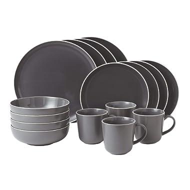 Gordon Ramsay 16-Piece Bread Street Dinnerware Set, Slate