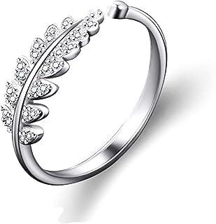 80f31100d1 Karatcart Silver Platinum Plated Elegant Austrian Crystal Adjustable Leaf  Ring For Women's
