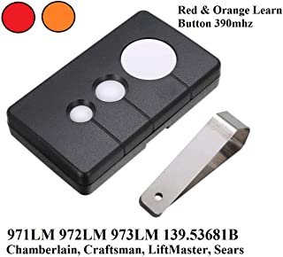 Garage Door Remote Opener Remotes HBW1255 139.53681B 390MHz Three Button Remote Control Transmitter Fit for Sears Craftsman Chamberlain LiftMaster 971LM 972LM 973LM 970LM Transmitter 3 Button