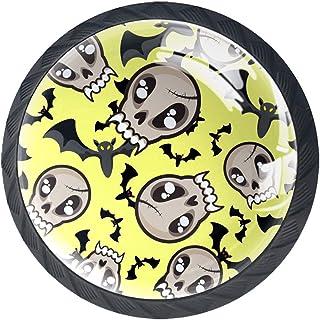 Tiroir Poignées Tirez pour la maison de cuisine commode garde-robe,Crâne chauve-souris