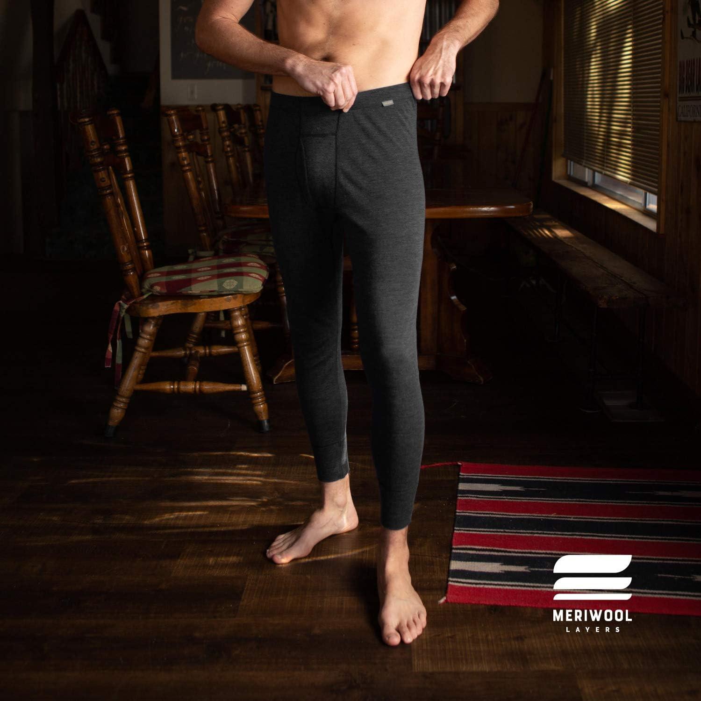 MERIWOOL Men's Base Layer Bottoms - Lightweight Merino Wool Thermal Pants