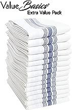 Value Basics Herringbone Stripe Kitchen Towel Set, 15