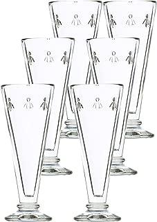 La Rochère Set of 6, 5.1 oz. Bee Décor Clear Champagne Flutes