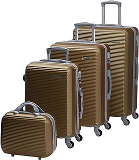 حقائب امتعة بعجلات للجنسين من تشاليش، 4 قطع، ذهبي