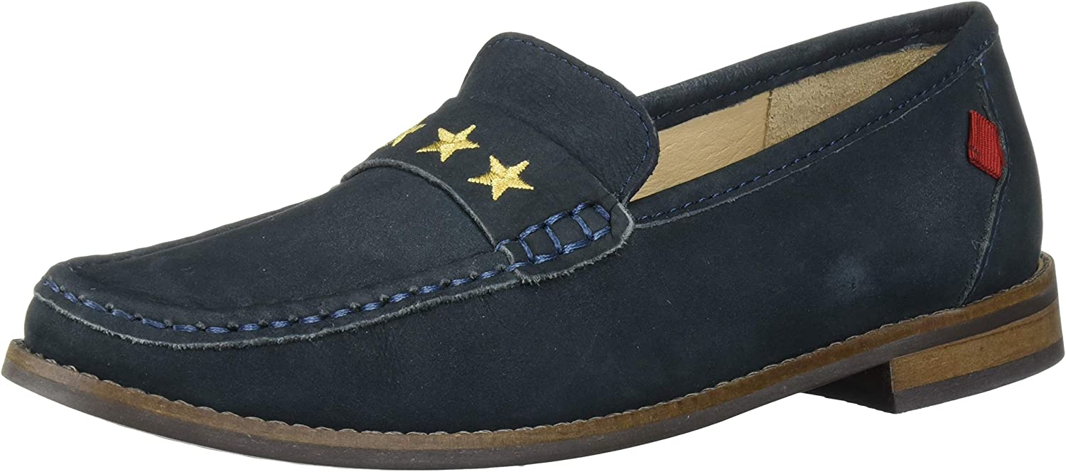 Special price MARC JOSEPH Award-winning store NEW YORK Unisex-Child Gold Leather Loafer with Embro