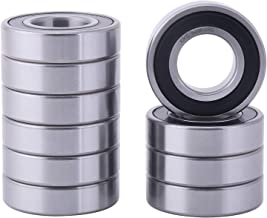 XiKe 10 Pcs 6206-2RS Double Rubber Seal Bearings 30x62x16mm, Pre-Lubricated and Stable Performance and Cost Effective, Deep Groove Ball Bearings.