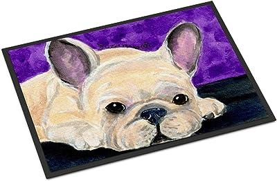 """Caroline's Treasures French Bulldog Indoor or Outdoor Doormat, 18"""" x 27"""", Multicolor"""
