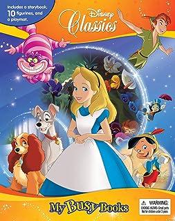 Phidal-Disney Classics (Ppan/Pino/Lady/Alice) My Busy Books - Multi color