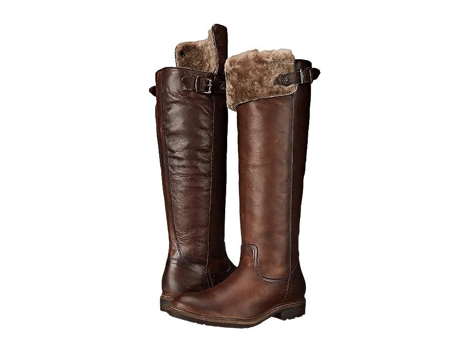 Frye Mara Button OTK (Dark Brown Soft Classic Leather) Cowboy Boots