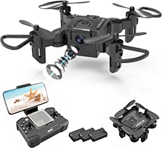 4DRC Mini Drone with Camera for Kids and Adults Beginners RC Foldable Quadcopter,App Control,3D Flips and Headless Mode,On...