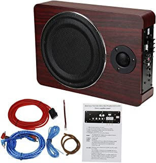 $59 » Sponsored Ad - 12V 600WUnder-seat 8 inch Car Subwoofer Speaker Wooden Active Stereo Bass Audio Powered Amp