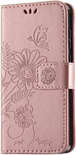 Galaxy S20 Case, kazineer Premium Leather Flip Wallet Cover with Card Slots Phone Case for Samsung Galaxy S20 (Rose Gold)