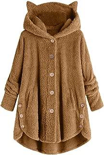 LEKODE Outwear Women's Warm Hoodie Solid Color Long Sleeve
